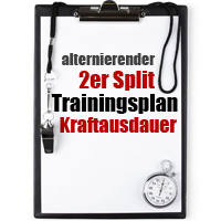 Alternierender 2er Split Trainingsplan Kraftausdauer